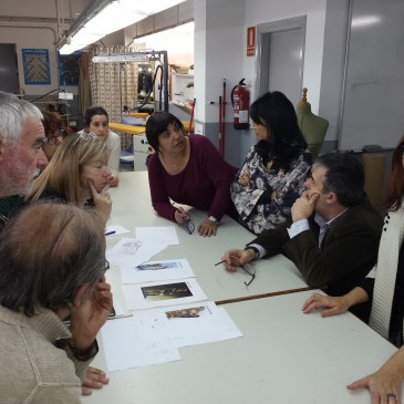 Reunió del Museu Lleida i l'INS Guindàvols amb els arqueòlegs de la Fortalesa dels Vilars