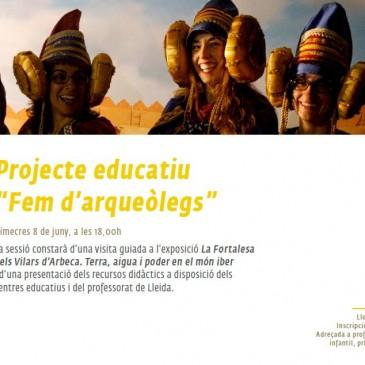 """Presentació de la proposta educativa """"Fem d'arqueòlegs"""
