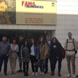 """Estudiants d'Història Moderna de la UdL visiten l'exposició """"Fams i abundàncies"""""""