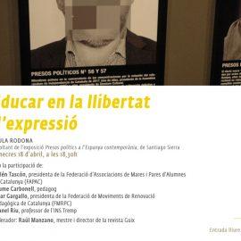 """Taula rodona """"Educar en la llibertat d'expressió"""""""