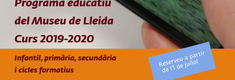 Programa educativo Museu de Lleida curso 2019 - 2020